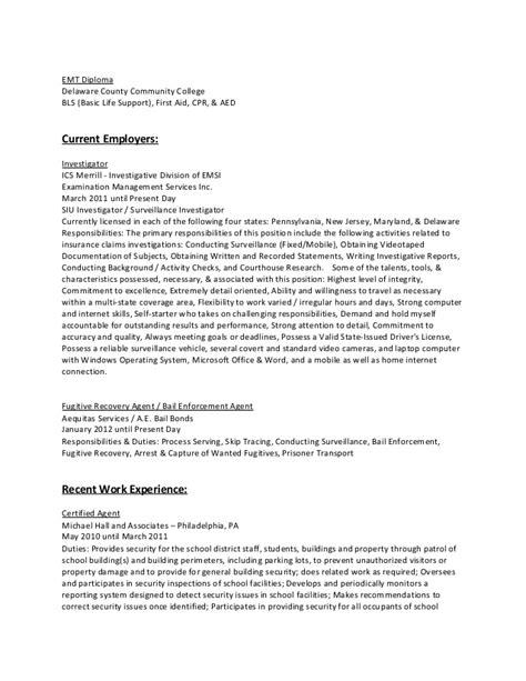 Siu Investigator Sle Resume by Ctr Resume Current September Of 2013