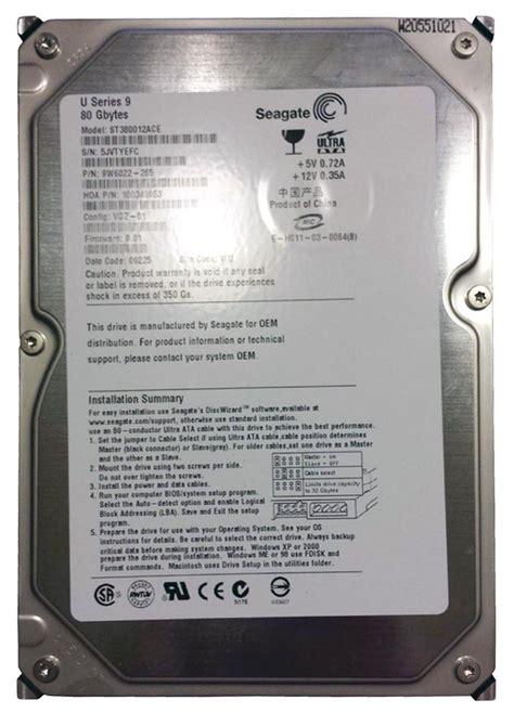Harddisk Ata Seagate 80gb st380012ace seagate u9 80gb ata 100 drive