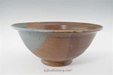 Handmade Bowls - handmade pottery bowl 13 quot in oasis glaze giftedpottery