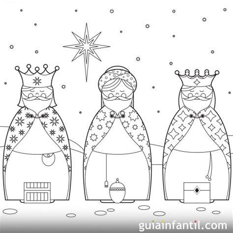 imagenes de los reyes magos para pintar dibujo reyes magos para colorear beautiful dibujos de los