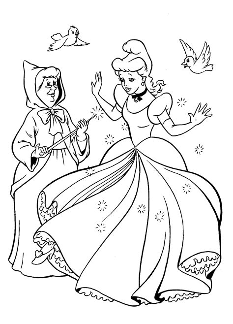 new cinderella coloring pages coloring page new cinderella dress