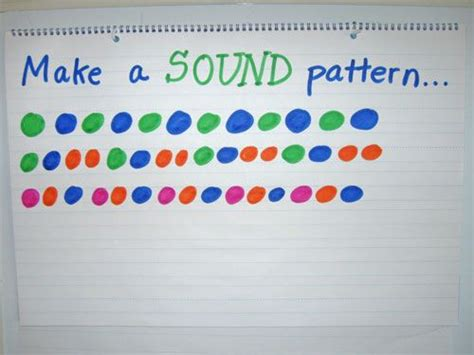 pattern songs for kindergarten make a sound pattern math pinterest math math