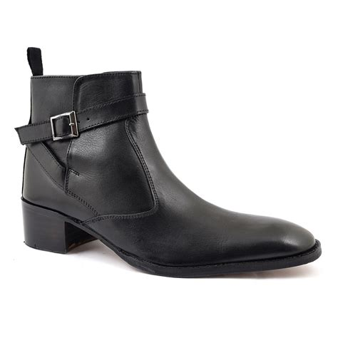 shop mens black heel beatle boots gucinari