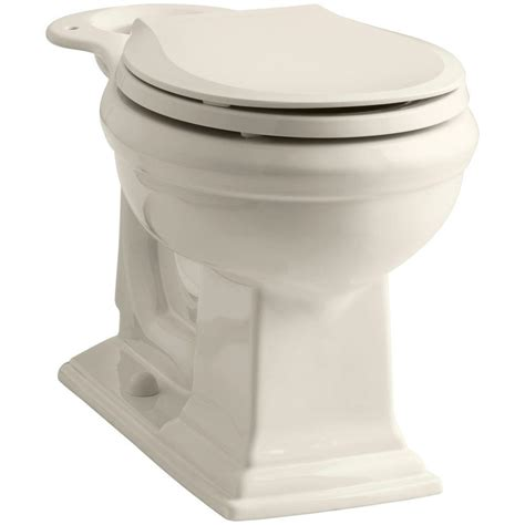 toilet bowl rugs kohler memoirs comfort height front toilet bowl only in biscuit k 4387 96 the home depot