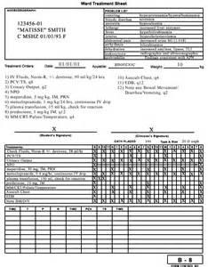 Treatment Sheet Template by 1 Treatment Sheet
