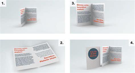 Standup Desk floating bi fold brochure mockup mockupworld