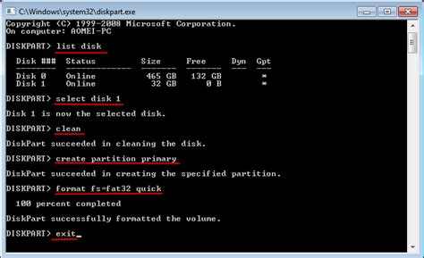 format diskpart xp how to format bootable usb flash drive to normal in windows 7