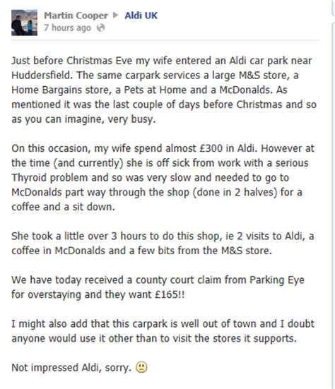 Parking Eye Appeal Letter Template Parking Prankster How To Get A Parkingeye Charge Notice Cancelled If You Shopped At Aldi