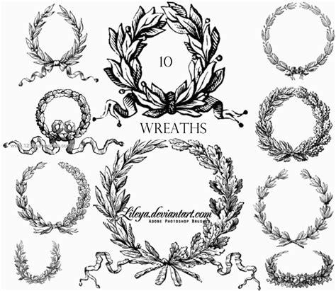 laurel wreath photoshop brushes free ps brushes