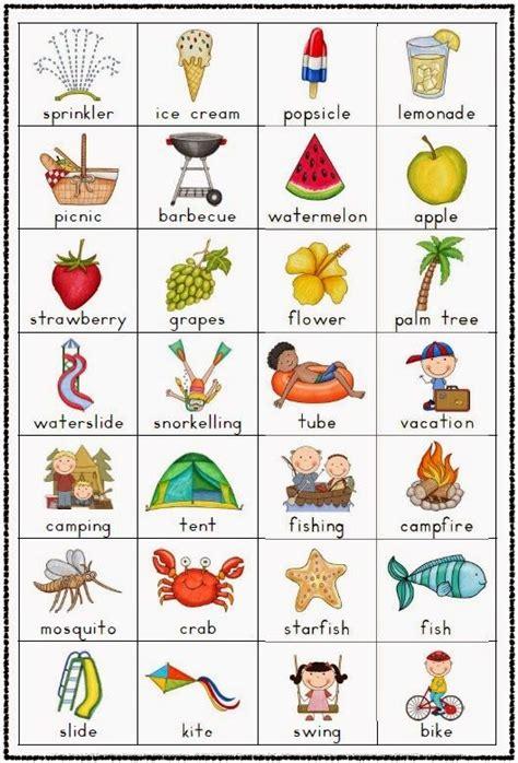 the vocabulary guide anglais summer vocabulary chart freebie vocabulary chart summer and english
