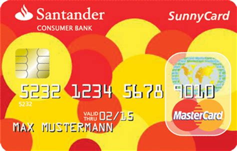 santander consumer bank kreditkarte santander sunnycard kreditkarte kostenlose kreditkarte