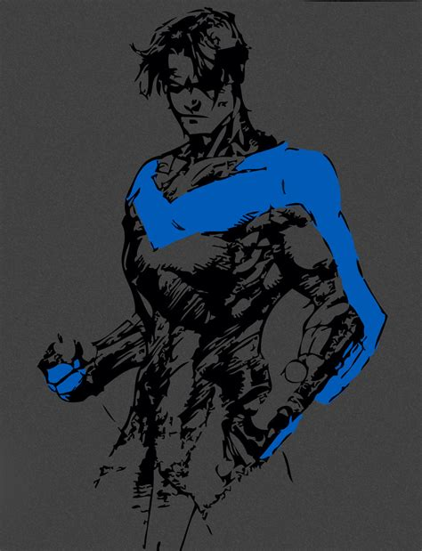 nightwing by blackandgoldragon on deviantart