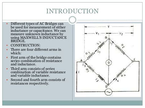 inductance measurement bridge maxwell s induction bridge