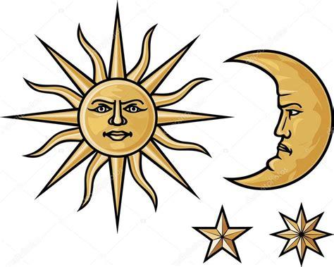 sol y la luna nubes estrellas vector de stock 169 son sol luna y estrellas vector de stock 169 tribaliumivanka