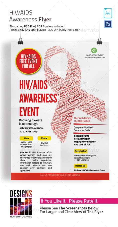 hiv aids brochure templates hiv and aids awareness flyer
