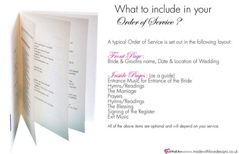 Order Of Service Wording What To Include Weddings Pinterest Wedding Wedding Programs Wedding Order Of Service Template