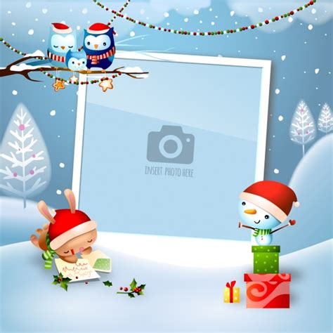 template karikatur photoshop christmas background design vector free download