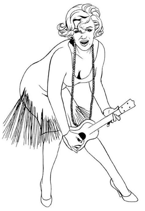 marylin monroe coloring page coloring pages drawings monroe color coloring book pages pinterest