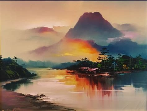 H Painting by Hong Leung For Sale