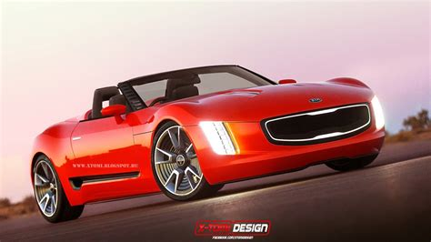 kia convertible render kia gt4 stinger cabrio concept the korean car blog