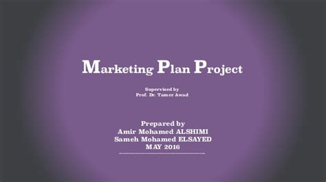 Mba Marketing Internship Projects by Marketing Plan 2016 Project For Mba
