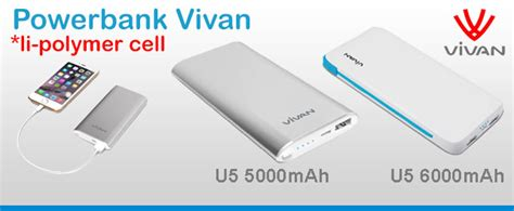 Power Bank Vivan U6 jual powerbank vivan u6 6000mah setia komputer