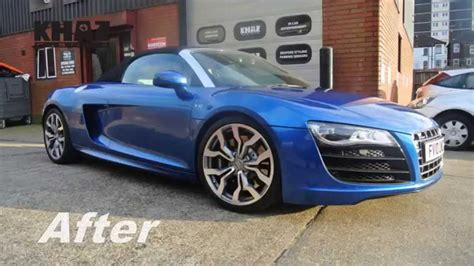 wrapped r8 audi r8 spyder daytona blue wrap youtube