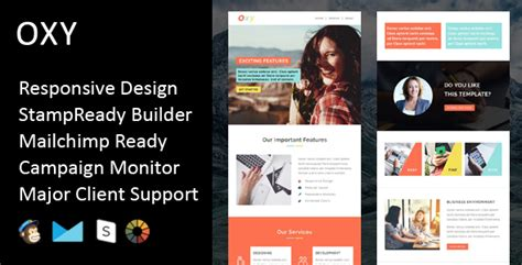 Oxy Multipurpose Responsive Email Template Stready Builder By Fourdinos Mailchimp Template Builder