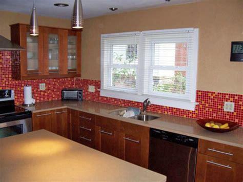 red kitchen backsplash mosaic glass tile kitchen table backsplash patterns ideas