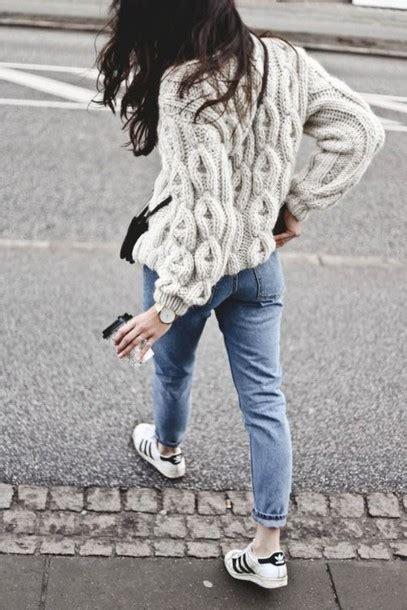 Sweater Rajut Cable Saku Series Knitted Sweater Winter Sweater sweater cable knit winter sweater