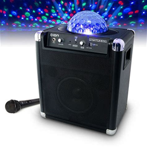 ion bluetooth speaker with lights ion block party live speaker portable wireless speaker