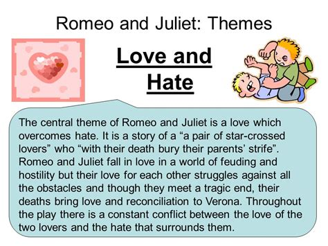romeo and juliet character themes romeo and juliet themes ppt download