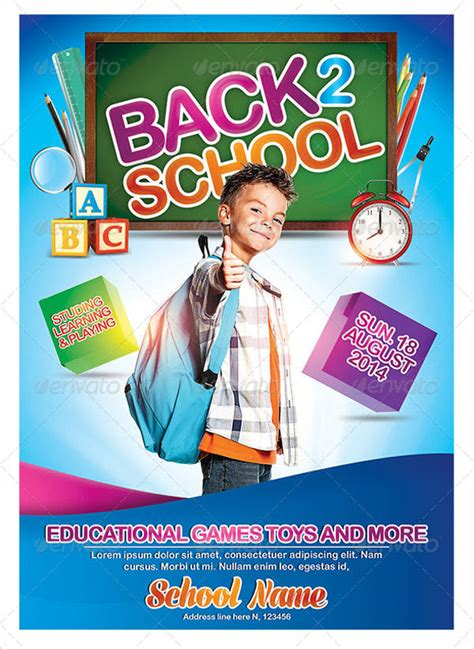 School Poster Template 8 Free Psd Vector Ai Eps Format Download Free Premium Templates School Poster Templates