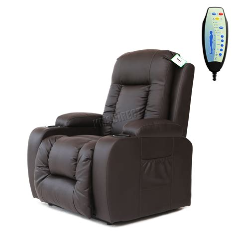 recliners with heat and massage leather foxhunter leather massage riser recliner sofa lift arm