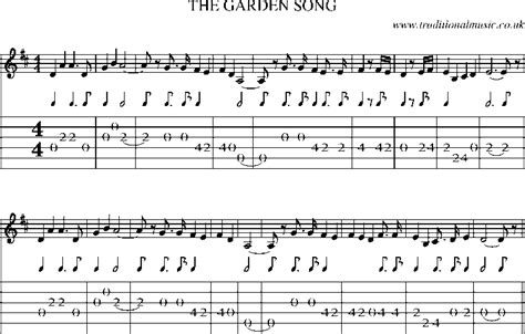 Songs Garden by Guitar Tab And Sheet For The Garden Song 1
