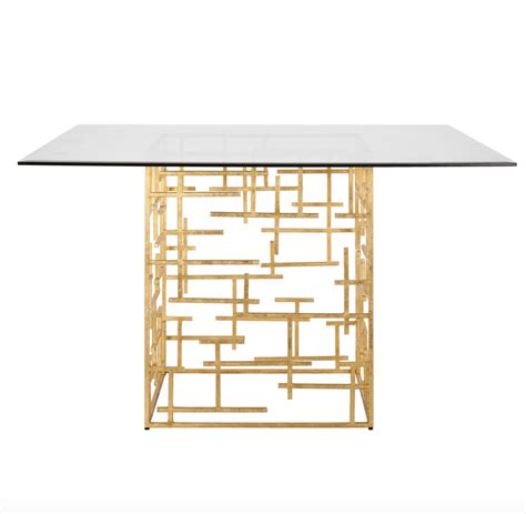 Gold Leaf Dining Table Base Worlds Away Daniel Gold Leaf Dining Table Base Only