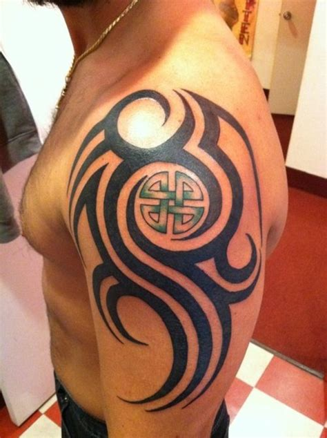 celtic tribal shoulder tattoos top designs images for tattoos
