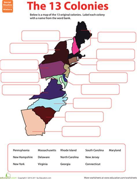 13 Colonies Worksheets by Name The 13 Original Colonies Worksheets