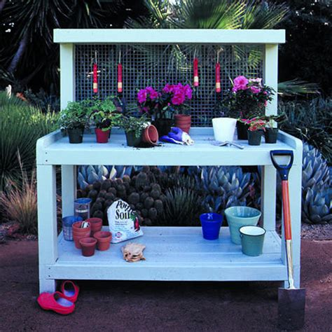 build your own potting bench 10 free potting bench plans