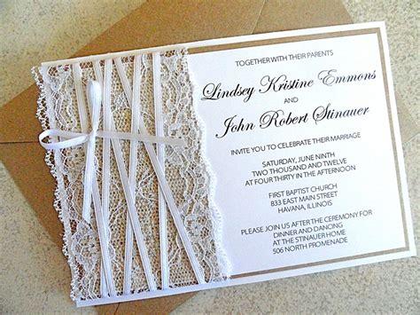 wedding invitations burlap lace embellished burlap wedding invitations onewed