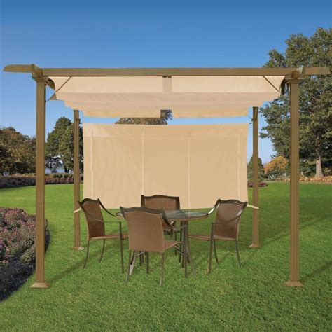 pergola with shade pergola with adjustable shades transitional by brookstone