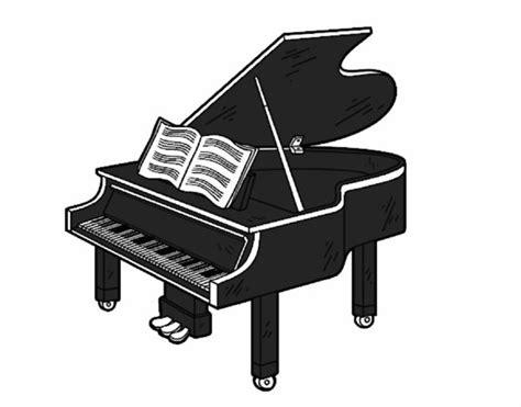 Coloriage De Une Grand Piano Ouvert Pour Colorierl