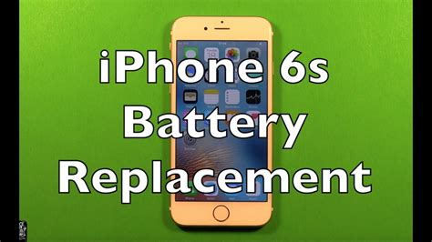 iphone 6s battery replacement how to change