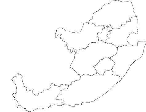 south africa map outline blank map of south africa with provinces