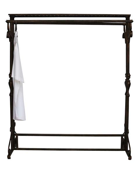 Metal Wardrobe Rail by Wardrobe Clothes Rail Hatrack Metal Shelf Stand Antique