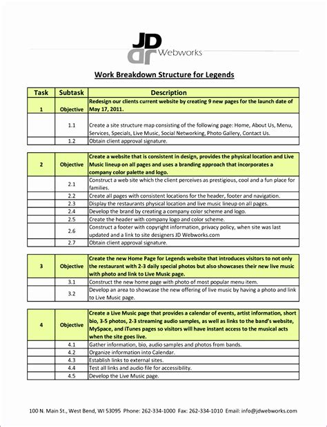 work breakdown structure template excel 9 excel work breakdown structure template exceltemplates