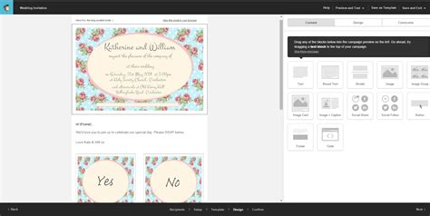 Mail Chimp S Day Card Template by Using Mailchimp To Plan A Or Wedding Boom