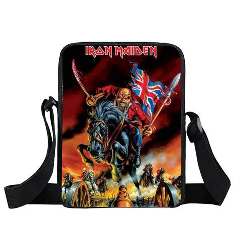 Slayer Rock Band Heavy Metal - rock band iron maiden slayer kill messenger bag heavy