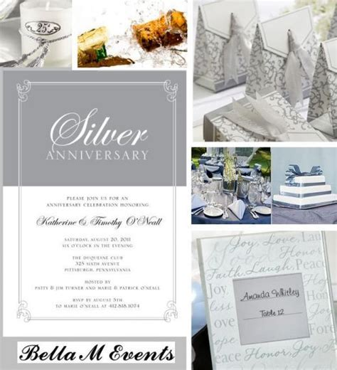 silver picture frames 25th anniversary and themes on