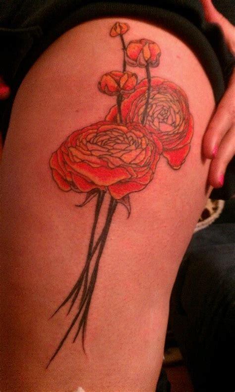 buttercup flower tattoo ranunculus tattoos